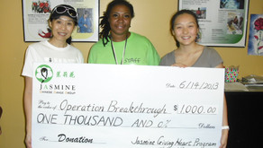 Youth members from theJasmineChinese Dance Group give back