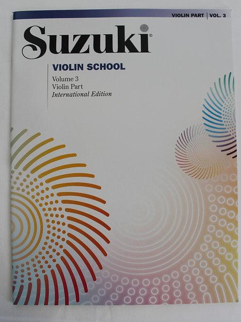 Suzuki Violin School Volume 3