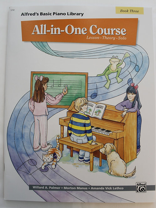 Alfred's Basic Piano Library All In One Course Book 3