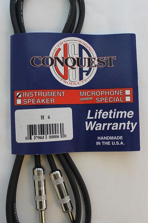 Conquest Sound H6 6' Instrument Cable