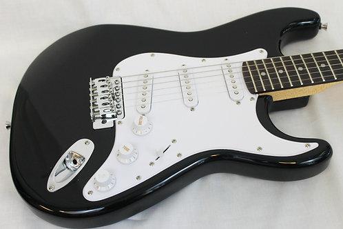 Austin AST100BK Double Cutaway Electric Guitar-Black