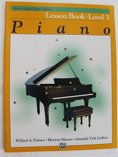 Alfred's Basic Piano Library Lessons Book Level 3