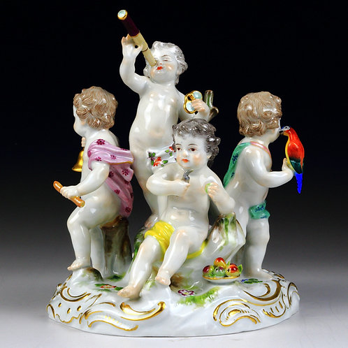 マイセン 高額人形 群像 五感の寓意 1750年 ケンドラー 希少レア