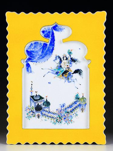 マイセン アラビアンナイト 陶板画 クリスタルパレスと魔法の馬