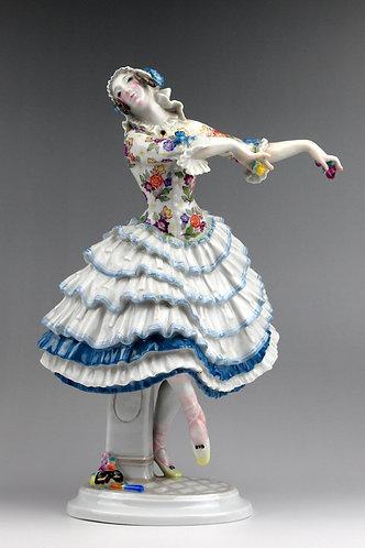 マイセン ロシアバレエ人形 フィギュア 蝶になったキアリーナ 名作