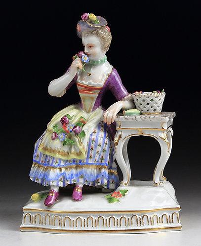 マイセン 人形 フィギュア 五感寓意 嗅覚 シェーンハイト 1772年