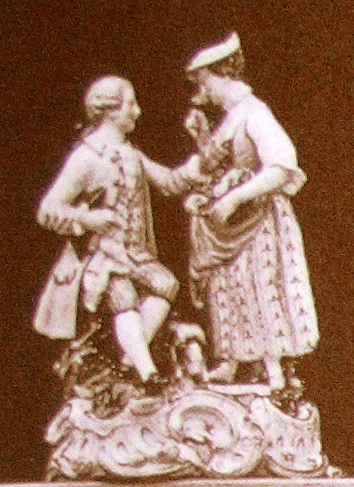 ガーデナー グループフィギュリン 超希少 マイセン 珍品 meissen Gardener フィギュリン 19世紀 人形 古マイセン 入荷予定 新古典主義 Carl Christoph Punct カール・クリストフ・プンツ