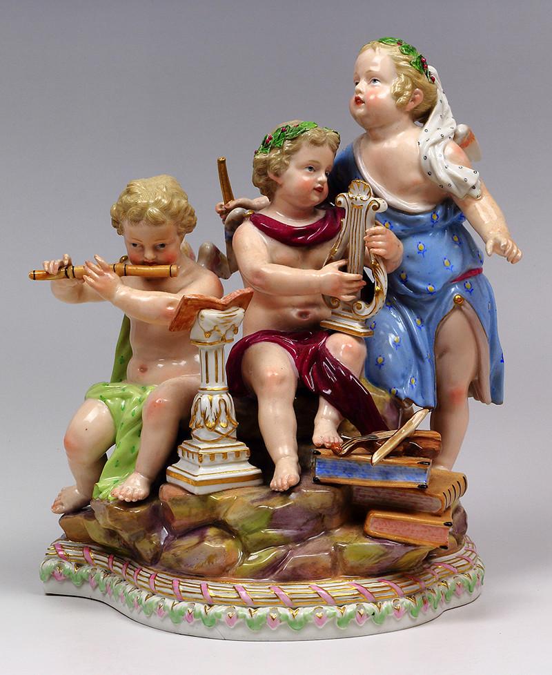 超希少 新古典主義 天使 寓意 神話 マイセン 古典 allegory 19世紀 フィギュリン 18世紀 acier アシエ ロココ mythology meissen 人形 珍品 古マイセン 入荷予定
