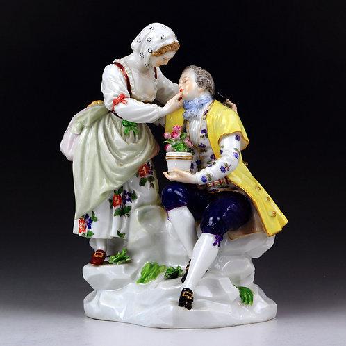 マイセン 人形 フィギュア ガーデナー 庭師の恋人達 ケンドラー