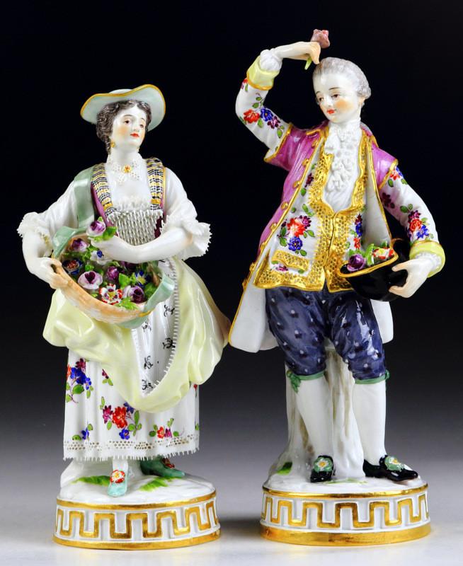 マイセン meissen フィギュリン 人形 入荷予定 珍品 高額ライン 古マイセン acier アシエ 美術館 古典 超希少 18世紀 19世紀 ガーデナー Gardener 新古典主義 ペア