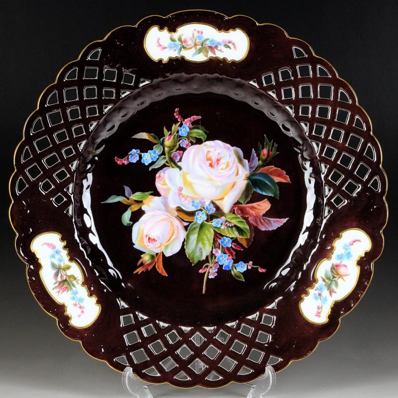 ブーケ  旧画法  超希少  高額ライン  マイセン  日本未発売  特注品  珍品  meissen  一点もの  プレート  マイセンフラワー  入荷予定  テーブルウェア  Naturalistisch  自然主義  ブラウンスドルフ  Braunsdorf  飾り皿  花瓶  vase  オープンワーク  装飾絵皿