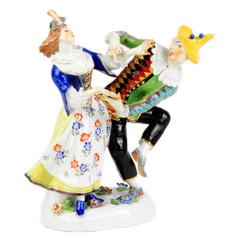 マイセン 高額 人形 フィギュア フィギュリン コメディアデラルテ ハレキン&コ