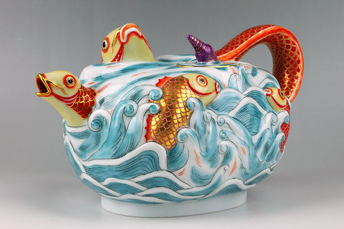 マイセン 2004世界限定 鯉ポット 1725年原型 ツヴィンガー宮殿所蔵