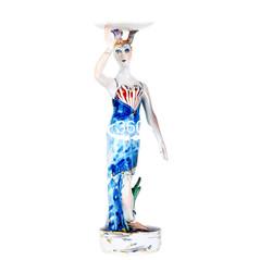 マイセン 2002 世界限定 パーワイズ エディション ペア人形 フィギュア フィギュリン フロリアン&メリジーヌ シルビア・クレード作 完売作 メリジーヌ