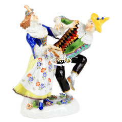 マイセン 高額 人形 フィギュア フィギュリン コメディアデラルテ ハレキン&コロンビーヌ ケンドラー作品 レア