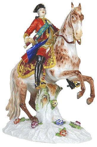 マイセン 雅宴 人形 フィギュア フィギュリン 大作 August III Sas 馬上のアウグスト三世像 特大 高額作品 1746年 F.E.メイヤー