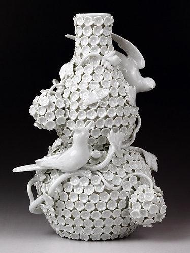マイセン スノーボール 花瓶 weis 希少白磁モデル 高額作品 珍品