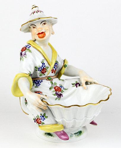 マイセン 人形 フィギュア ジャポニズム 貝と男の坐像 大型限定 パゴダ系譜