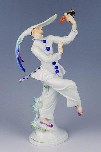 マイセン ロシアバレエ人形 フィギュア 仮面のダンサー 名作