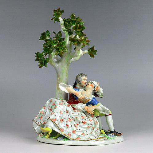 マイセン 人形 フィギュア 求愛 1740年 ケンドラー初期名作 大型