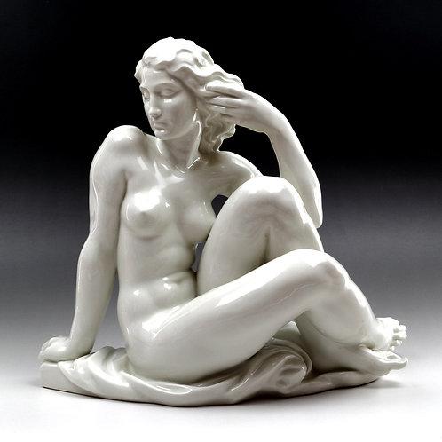 マイセン 人形 フィギュア 裸婦座像 R.ウルマン作 アールデコ期
