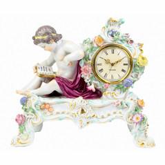 マイセン マントルクロック 名作 花時計 1770年頃 ケンドラー&アシエ原型 人形 フィギュア フィギュリン 置時計 超高額 アンティーク