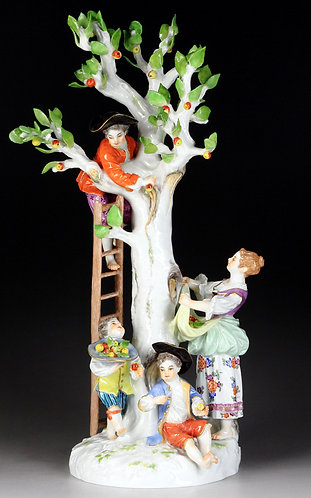 古マイセン 人形 新古典主義 名作 高額 大型 フィギュア フィギュリン リンゴ摘み 1753年 ケンドラー&エリアスメイヤー ガーデナー代表作