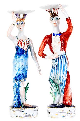 マイセン 燭台人形 高額フィギュア 世界限定芸術作品 現代アート