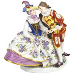マイセン 人形 ギャラント 雅宴 フィギュア フィギュリン スペインの恋人達 1