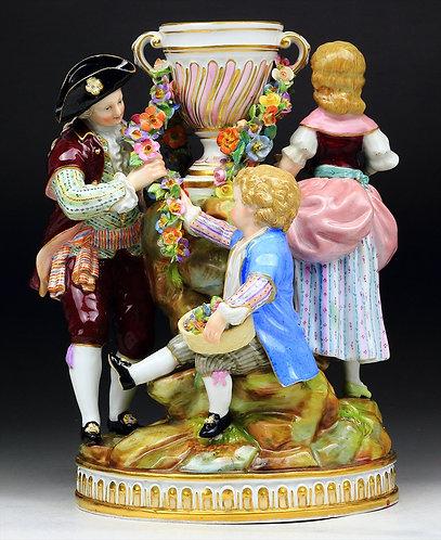 マイセン 人形 フィギュア ガーデナー ガーランド 花環群像 珍品