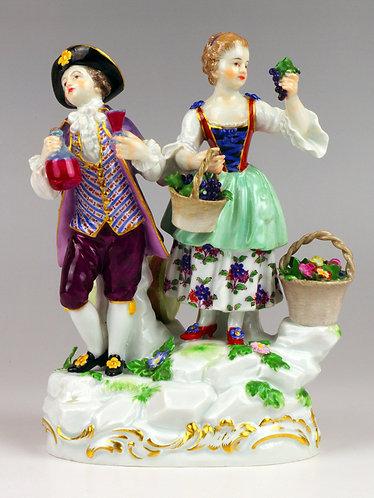マイセン 人形 フィギュア ワイン生産者 1700年代原型 M.Vアシエ