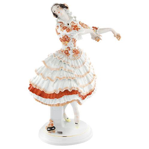 マイセン 2014年 リミテッド・マスターワーク フィギュリン ロシアバレエ人形「蝶になったキアリーナ」パウル・ショイリッヒ 1912年名作