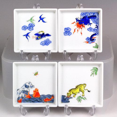 マイセン 世界限定100 ジャポニズム 浮世絵 4作揃い 日本未発売