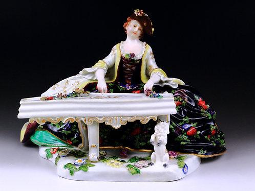 マイセン 人形 フィギュア チェンバロを奏でる淑女 創立200周年