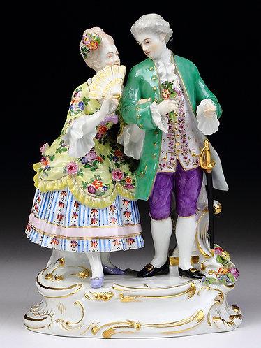 マイセン 人形 フィギュア 舞踏前 1890年 リングラー作 新ロココ