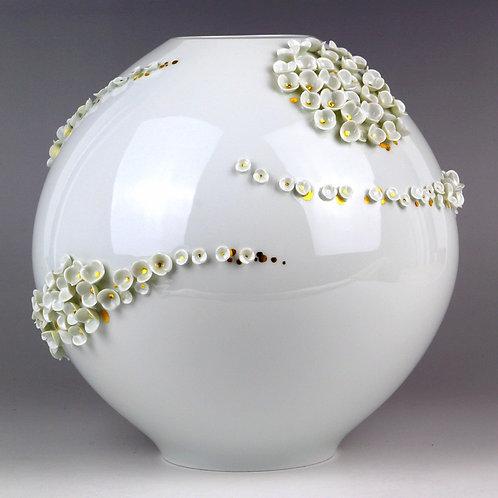 マイセン 2001年マイセン展出展作品 紫陽花スノーボール サイン
