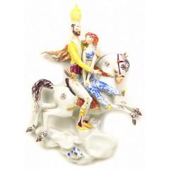 マイセン アラビアンナイト 千夜一夜 立体陶板画 フィギュアプラーク 魔法の馬