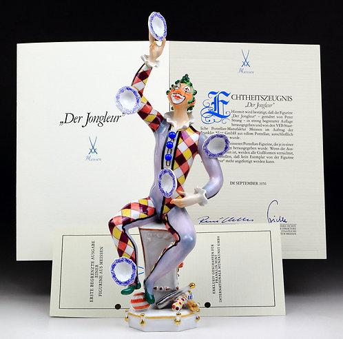 マイセン 人形 フィギュア ジャグラー 大型限定 証明書 絶版レア