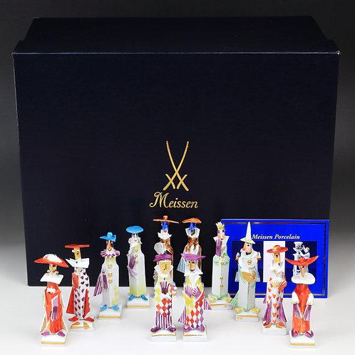 マイセン 人形 フィギュア 仮面舞踏会 フルセット シュトラング