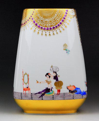 マイセン アラビアンナイト 花瓶 H・ヴェルナー 参考価格140.4万