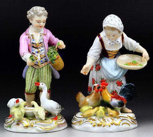 マイセン ペア人形 給餌する子供達 ケンドラー 1761年 珍品 高額
