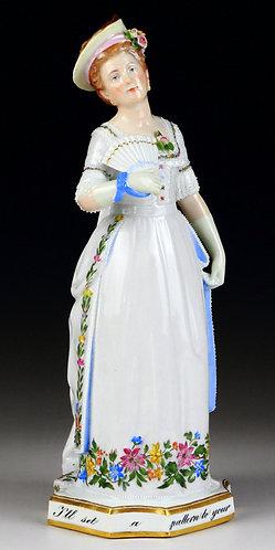 マイセン 1890年特別制作 人形 エイダキャヴェンディッシュ 極珍