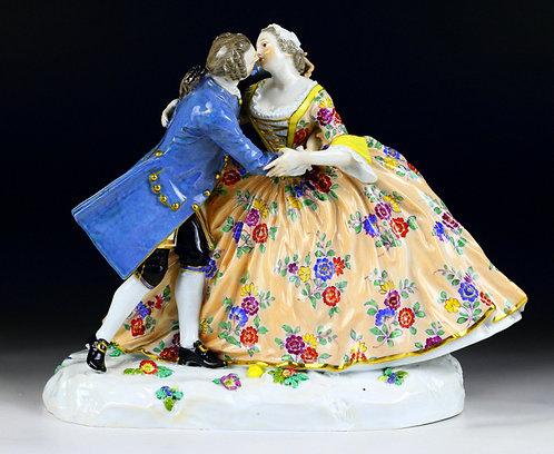 マイセン 人形 フィギュア キス オールドカラー 1744年 初期名作