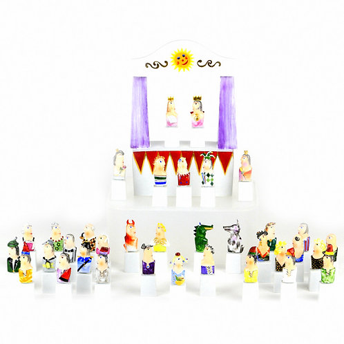 マイセン 人形 フィギュア フィギュリン 現代アート Kasperletheater カスパーシアター 総36点 大規模セット 希少 高額作品 レア