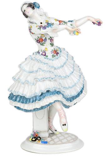 古マイセン ユーゲントシュテール 名作 ロシアバレエ 人形 フィギュア フィギュリン キアリーナ 1913年 ショイリッヒ オリジナル期