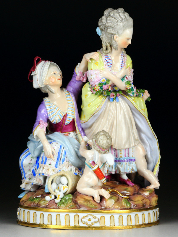 超希少  新古典主義  マイセン  古典  19世紀  フィギュリン  18世紀  acier  アシエ  ロココ  meissen  人形  珍品  古マイセン  入荷予定  Meissen Collector's Catalogue  群像