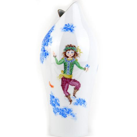 マイセン 真夏の夜の夢 ミッド サマーナイト ドリーム 日本未発売 大型 花瓶 アラビアンナイト作者 故H.ヴェルナー レア Y