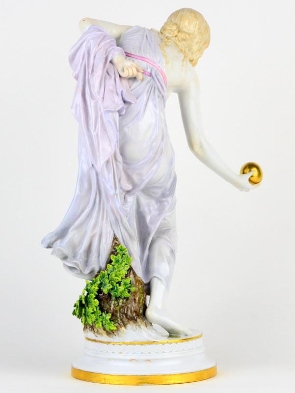入荷予定 マイセン meissen 人形 フィギュリン 限定 ユーゲントシュテール ウォルター・ショット w. schott ボールプレイヤー 高額ライン 超希少 日本未発売 女神 珍品 古マイセン