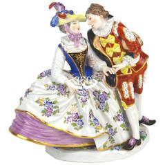 マイセン 人形 ギャラント 雅宴 フィギュア フィギュリン スペインの恋人達 1745年ケンドラー クリノリン 最古典作品