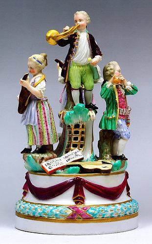 マイセン 人形 フィギュア 四人の音楽隊 1767年 博物館所蔵作品